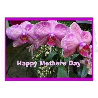 Tarjeta Orquídeas, día de madres feliz