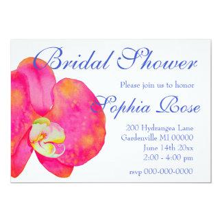 Tarjeta Orquídeas rosadas - ducha nupcial
