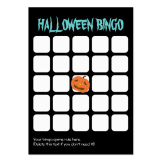 Tarjeta oscura del bingo del fiesta de la calabaza tarjetas de visita grandes