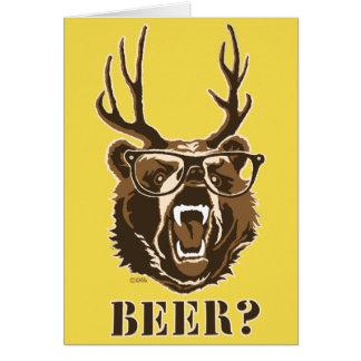 Tarjeta Oso, ciervos o cerveza