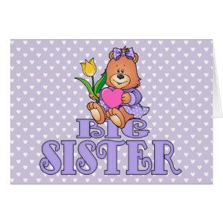 Tarjeta Oso con la hermana grande del corazón
