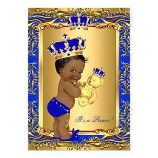 Tarjeta Oso de la fiesta de bienvenida al bebé de príncipe