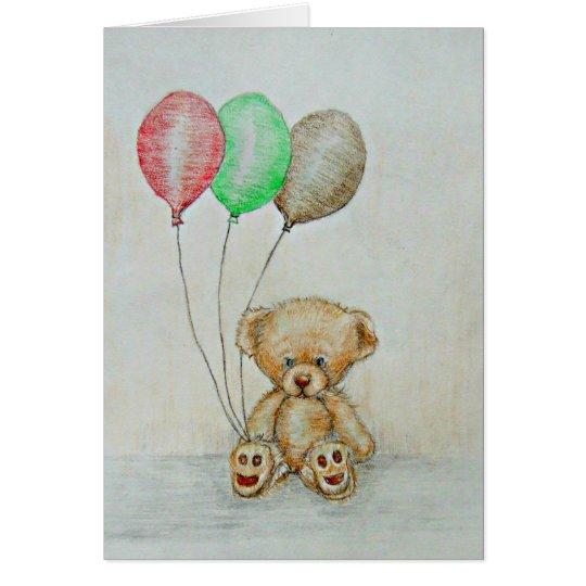 Tarjeta oso de peluche