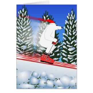 Tarjeta Oso polar de esquí