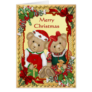 Tarjeta Osos dulces del navidad - verso dentro