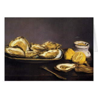 Tarjeta Ostras - Édouard Manet