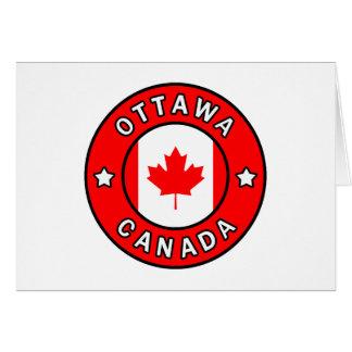 Tarjeta Ottawa Canadá