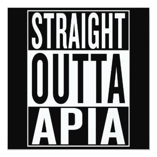 Tarjeta outta recto Apia