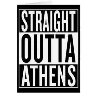 Tarjeta outta recto Atenas