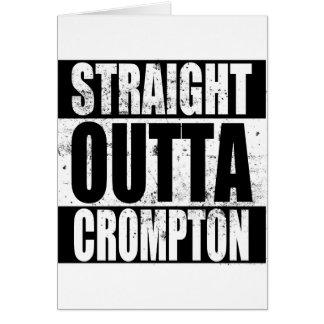 Tarjeta Outta recto Crompton (Oldham)