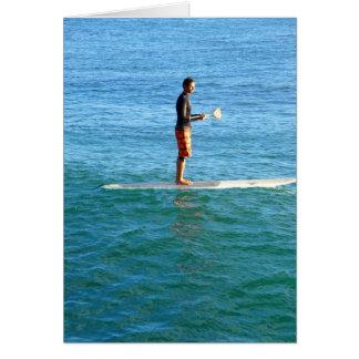 Tarjeta Paddleboarding