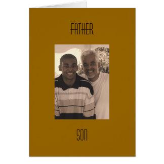 Tarjeta Padre e hijo