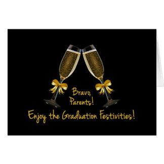 Tarjeta Padre-Goce de la graduación Festividad-Champán