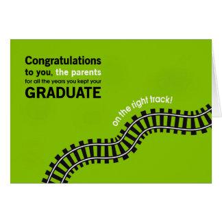 Tarjeta Padre-Graduado de la enhorabuena en buen camino