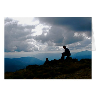 Tarjeta Padre y montaña de Sun