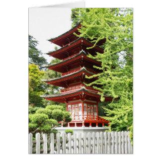 Tarjeta Pagoda de madera budista