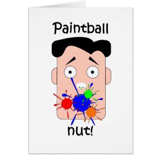 Tarjeta Paintball divertido