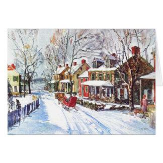 Tarjeta País de las maravillas del invierno