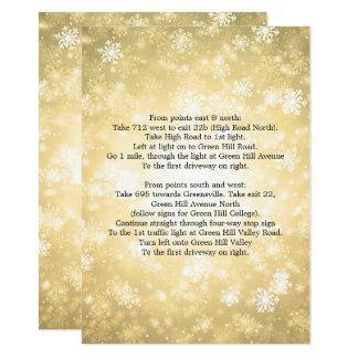 Tarjeta País de las maravillas del invierno del oro de las