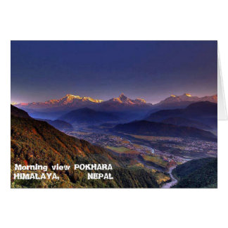 Tarjeta Paisaje de la visión: HIMALAYA POKHARA NEPAL