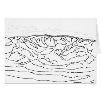 Tarjeta Paisaje de New México de las montañas de Sandia