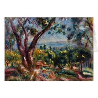 Tarjeta Paisaje de Pedro Renoir- Cagnes con la mujer y el