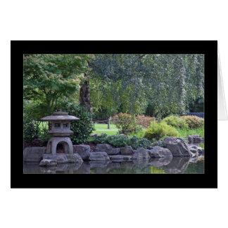 Tarjeta Paisaje del jardín del zen