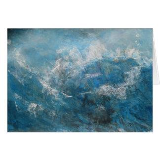 Tarjeta paisaje marino abstracto