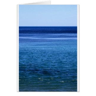 Tarjeta Paisaje marino azul del océano del paraíso