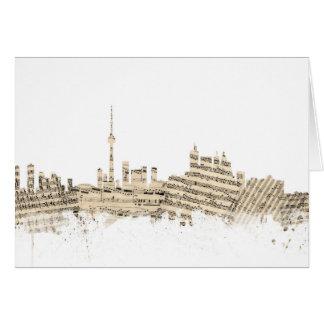 Tarjeta Paisaje urbano de la partitura del horizonte de