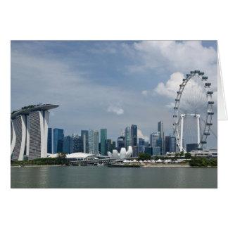 Tarjeta Paisaje urbano de Singapur