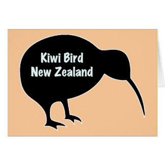 Tarjeta Pájaro del kiwi - Nueva Zelanda