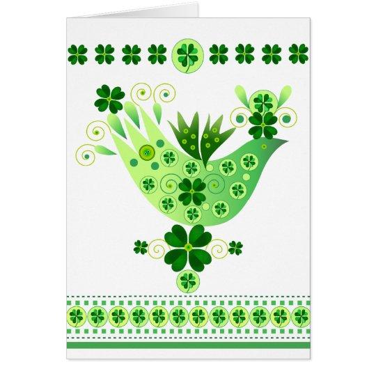 Tarjeta Pájaro irlandés de la suerte