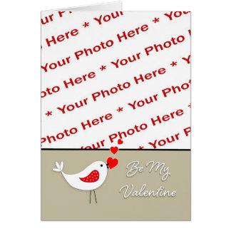 Tarjeta Pájaro Tarjeta-Lindo de la foto del el día de San