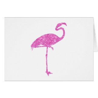 Tarjeta Pájaro tropical del flamenco de los falsos
