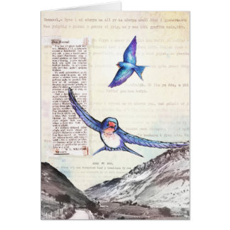 Tarjeta Pájaros de un valle Galés