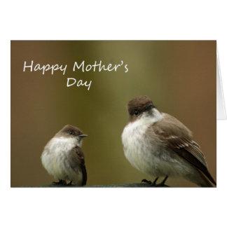 Tarjeta Pájaros felices del día de madre