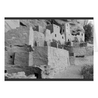Tarjeta Palacio del acantilado, parque nacional del Mesa