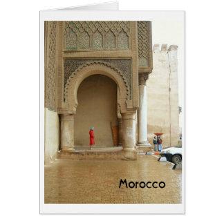 Tarjeta Palacio Marruecos de Marrakesh