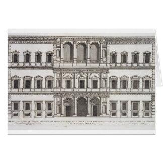 "Tarjeta Palazzo Farnese, de los ""di Roma de Palazzi"","