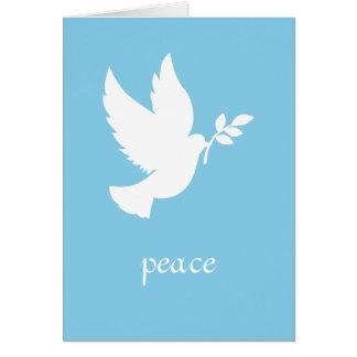 Tarjeta Paloma azul y blanca de la paz