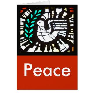 Tarjeta Paloma -- Paz con Shakespeare
