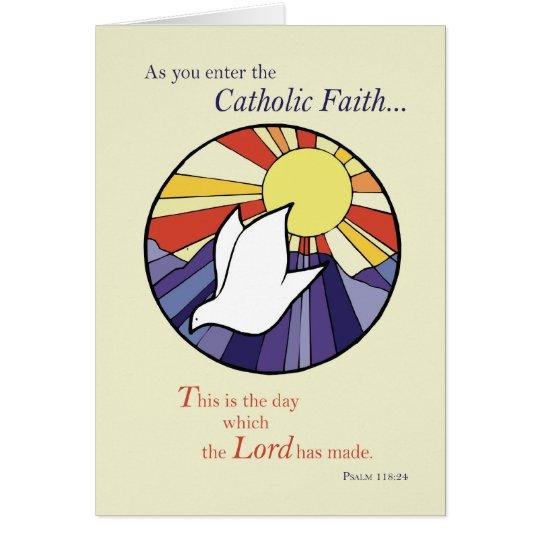 Tarjeta Paloma Sun RCIA de 2823 círculos, católico