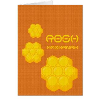 Tarjeta panales del hashanah del rosh