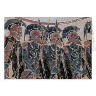 Tarjeta Panoplia - hoplitas que forman para arriba
