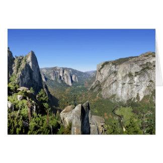 Tarjeta Panorama 2 del valle de Yosemite - Yosemite