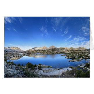 Tarjeta Panorama de la mañana del lago Marie - rastro de