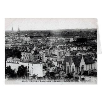 Tarjeta Panorama del vintage de París - Quartier Sainte