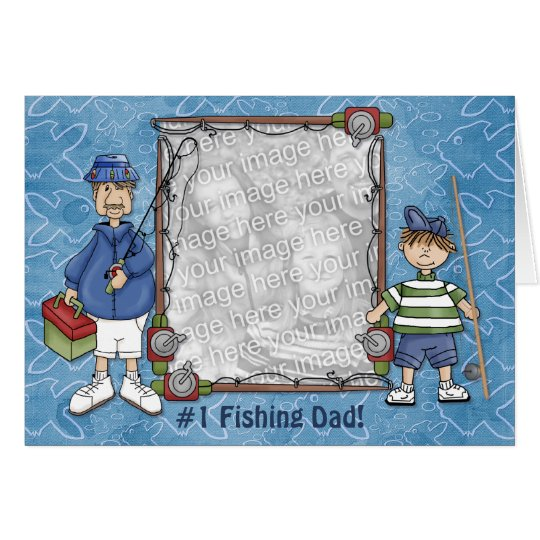 Tarjeta Papá de la pesca #1