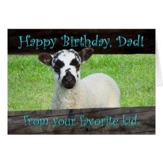 Tarjeta Papá del feliz cumpleaños de su niño preferido